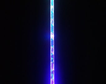 """Ready to ship! 7 - Mode LED Levitation Wand for Flow & Dance """"The Crystalline Entity"""" Hybrid Day/Night Wand"""