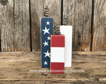 Wood fireworks, 4th of july blocks, wood Firecrackers, 4th of july decor, wooden fireworks, fourth of july, fourth of july decor, july 4