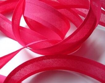 bright pink bias binding, bright pink bias tape, 10m x 25mm bias binding tape, bright pink, DIY bunting tape, UK sewing supply, haberdashery