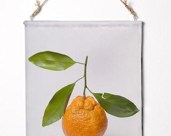 """Satsuma mandarin. Canvas Wall Hanging. 12.5"""" x 17"""""""