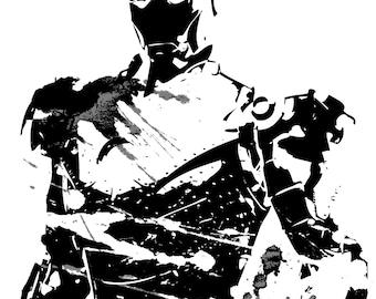 Iron Man Grunge Ink Print