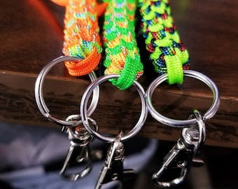 Breakaway Paracord Lanyards/ Keychains for Keys, Name Tags, Etc. (Custom Options Available)