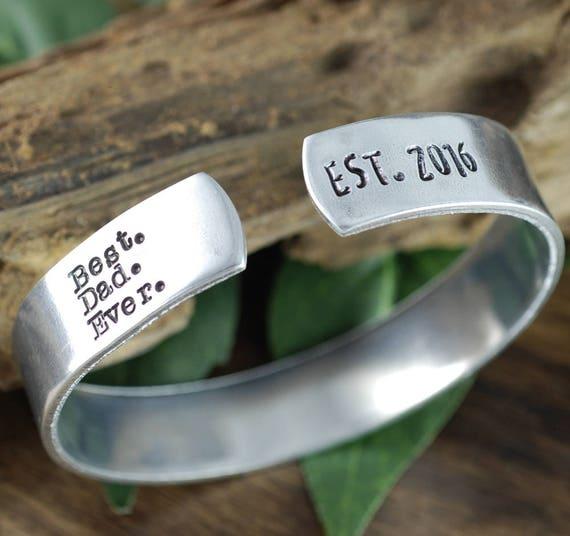 Personalized Mens Bracelet, Best Dad Ever Gift, Fathers Bracelet, Gift for Dad, Fathers Day Gift, Personalized Daddy Bracelets,Mens Bracelet