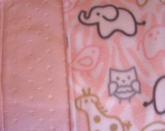 Baby Zoo Minky baby blanket - Large  53 x 51