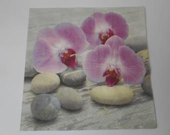 """Zen"" themed paper napkin - size 33cm / 33cm"