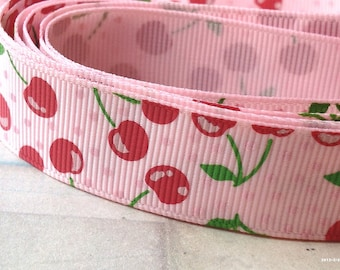1 Yard of 0.78 inches (20 mm) Pink Color Patterned Polyester Fabric Ribbon Tape /Sewing Trim (.ig)