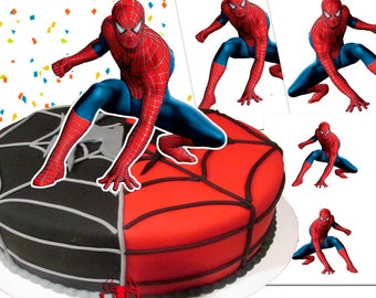 Spiderman Cake Topper/ Double Sided / Printable/ Spiderman Party / 9-7-5 inches / Instant Download