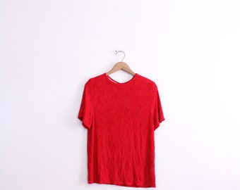 Red Texture 90s Blouse