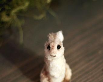 Handmade White Rabbit Miniature, Miniature rabbit, Bunny, Clay sculpture, OOAK miniature, Forest animal
