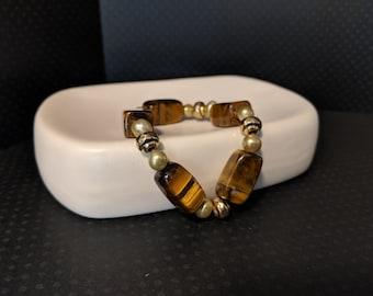 Tiger Eye and Bead Bracelet