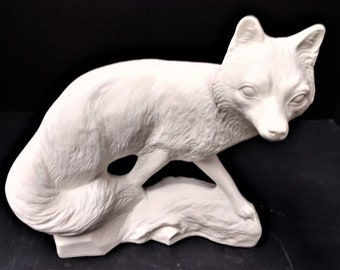 Fox Ceramic Bisque Ready-to-Paint
