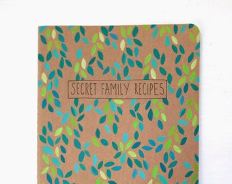 Personalized recipe book, Family recipe book, Daughter in law gift, Blank cookbook, Thank you gift, Blank recipe book, Bridal shower gift