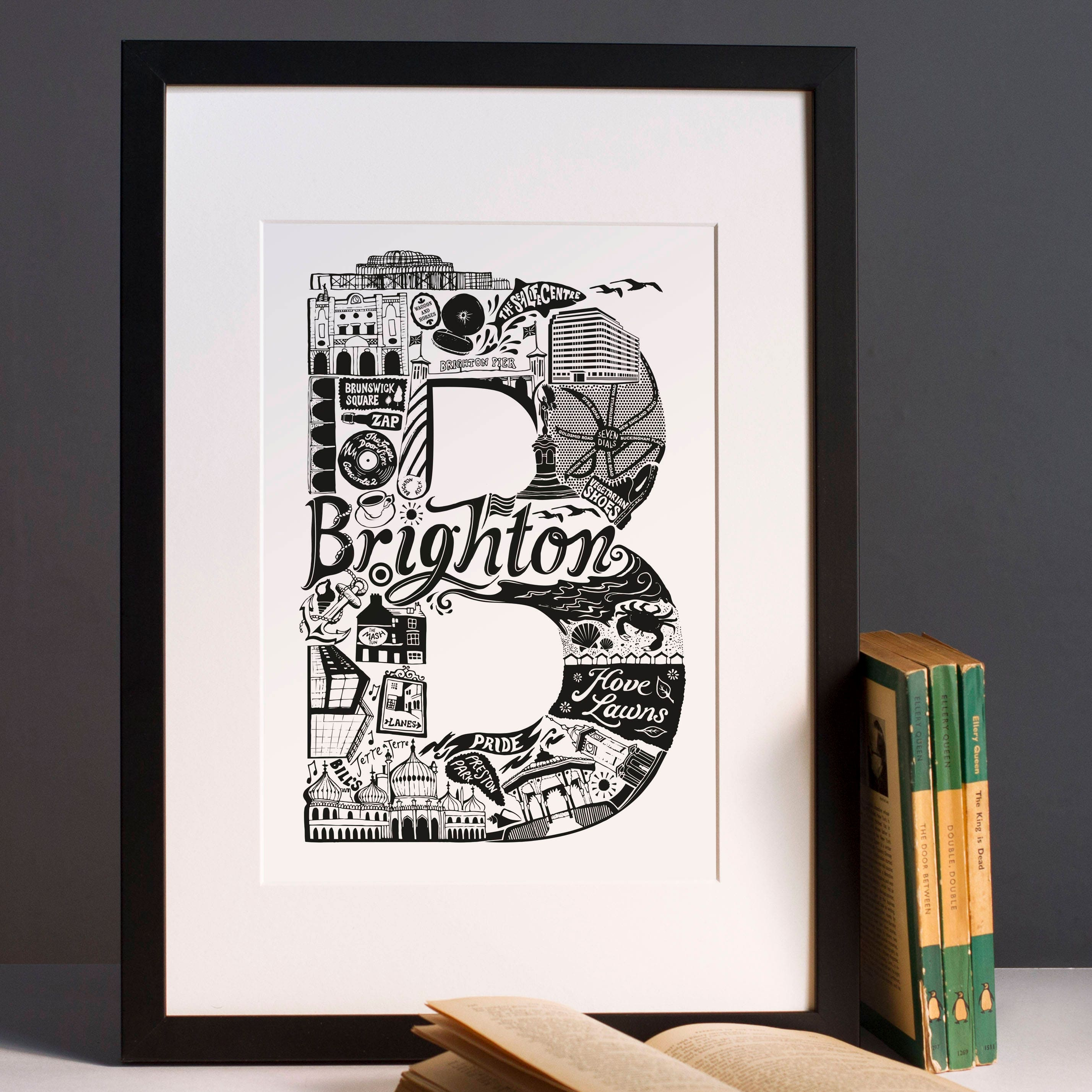 Best of brighton print graduation gift university town zoom jeuxipadfo Gallery