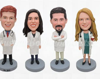 Doctor Bobblehead - Birthday Gift For Doctor - Nurse Gift - Gift For Women - Gifts For Doctors - Doctor Gift - Doctor Graduation Gift
