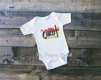 Take Home Outfit, Baby Girl Onesie, Newborn Onesie, Merry Christ Mas, Newborn Baby Girl Clothes, Embroidery