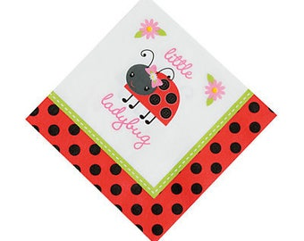 My Beautiful Little Ladybug Lunch napkins  / ladybug theme / ladybug party