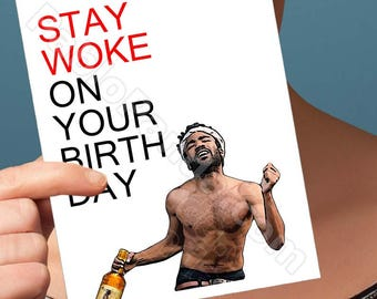 Friend Birthday Card | Donald Glover | Community Childish Gambino Card For Her Birthday Cards For Card For Men Boyfriend Card Boyfriend Gift