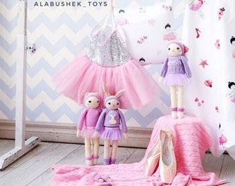 Crochet cat - Cat - Cat toy - Plush cat - Cat doll - Crochet kitten toy - Ballerina doll - Gift for her - First baby doll - Gift for baby -
