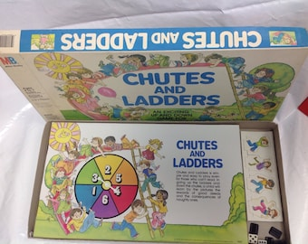 Vintage near mint condition chutes and ladders game board