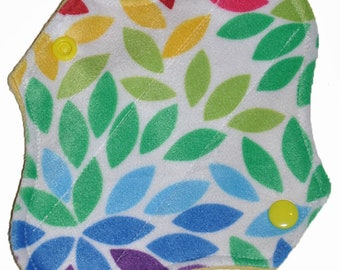 Liner Core- Rainbow Mums Minky Reusable Cloth Petite Pad- 6.5 Inches