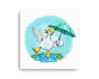 Spring Duck Canvas