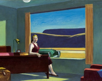 Western Motel by Edward Hopper Home Decor Wall Decor Giclee Art Print Poster A4 A3 A2 Large Print FLAT RATE SHIPPING