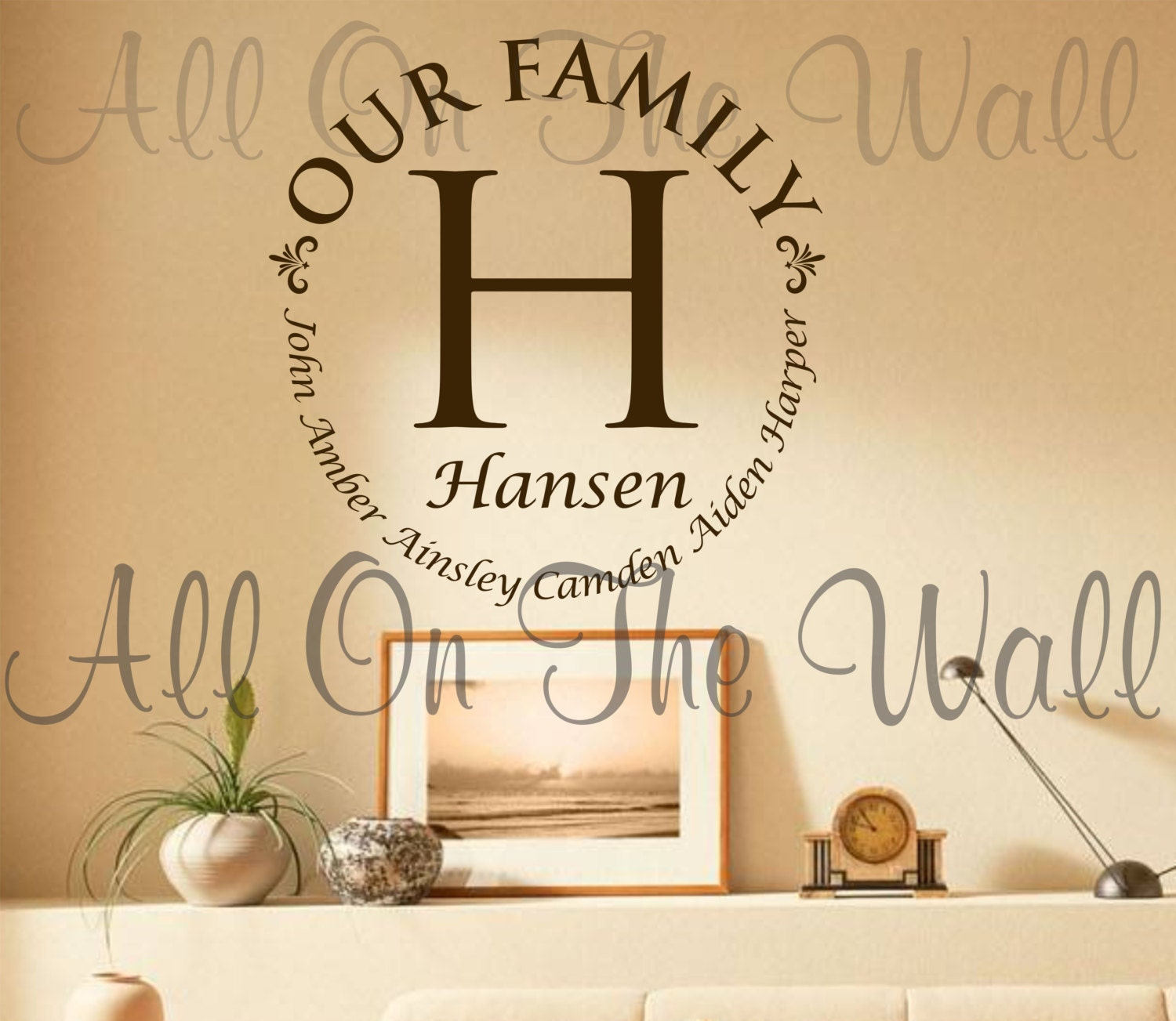 Our Family Wall Decal Last Name Decals Custom Vinyl Lettering