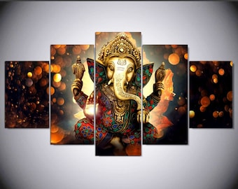 Ganesha 5pc Canvas Set
