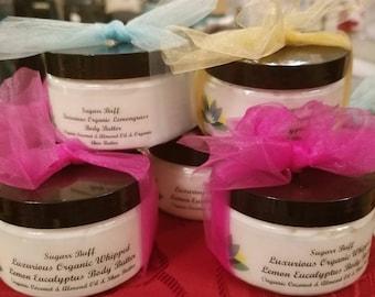 Organic, Non-Gmo, Organic Sugar Body Scrub, Organic Essential Oils, Organic Whipped Body Butter