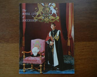 The Royal Line of Succession by Patrick W Montague-Smith ~ Pitkin Pictorials 1972