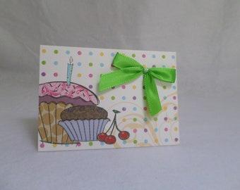 Anniversaore cupcake card