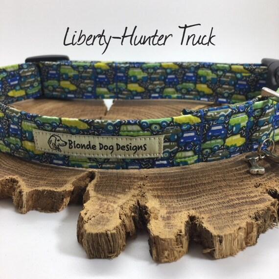 Liberty Dog Collar, Cute Dog Collar, Hunter Truck, Liberty Boy Collar, Luxury Dog Collar, Liberty Collar.