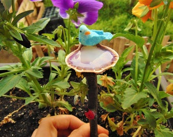 Miniature Bird Bath Fairy Garden Accessory,bird bath,fairy bird, fairy bird bath,fairy accent,fairy accessories,fairy garden,miniature