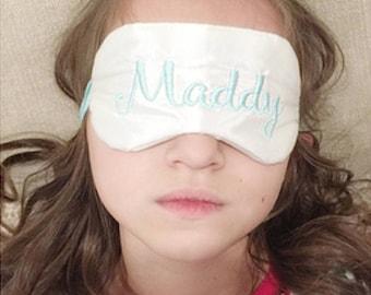 Personalized Cat sleep mask • Custom name sleep mask • Bridesmaids gift • Slumber party favor • Adjustable sleep mask • Crazy Cat Lady mask