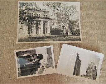 Vintage Architecture Photographs Actual Vintage Photos Lot of 3 Vintage Black & White Sepia Photos What Is It Photo