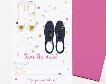 Confetti  - set of 8 Save The Date cards