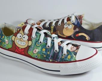 Gravity Falls custom Converse / Mabel Dipper Stan / custom shoes