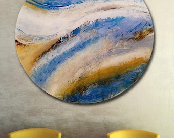 Acrylic Round Art, Acrylic Artwork, Acrylic Panel, Acrylic Art, Modern Art, Contemporary Art, Wall Art, Wall Decor, Original Art, Art,