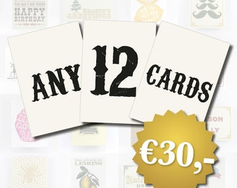 Bulk Card Discount - 12 Cards of your choice, Birthday Cards, Christmas Cards, Friendship Cards, All Occasion Cards, Pack of 12