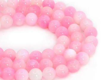 """8MM136 8mm Dyed multi-color jade round ball loose gemstone beads 16"""""""