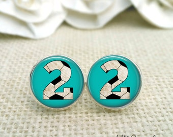 Personalized Soccer Earrings, Custom Soccer Number Earrings, Soccer Jewelry, Soccer Accessories