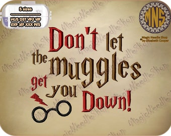 Harry Potter Quotes (Don't let...) embroidery design. Harry Potter Machine Embroidery Design. Instant download. #002-10