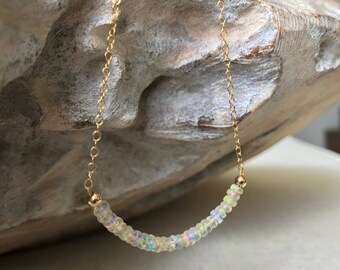 Gold Ethiopian Welo Opal Necklace