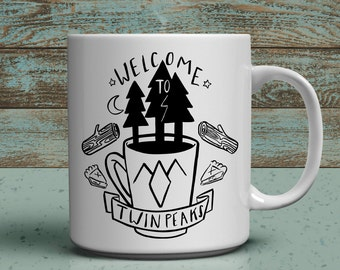 Coffee Trees welcome to twin peaks 11oz coffee mug