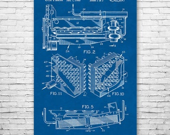 Turbocharger Intercooler Poster Art Print, Turbocharger Patent, Intercooler Patent, Mechanic Gift, Automotive Gift, Car Lover Gift, Patent