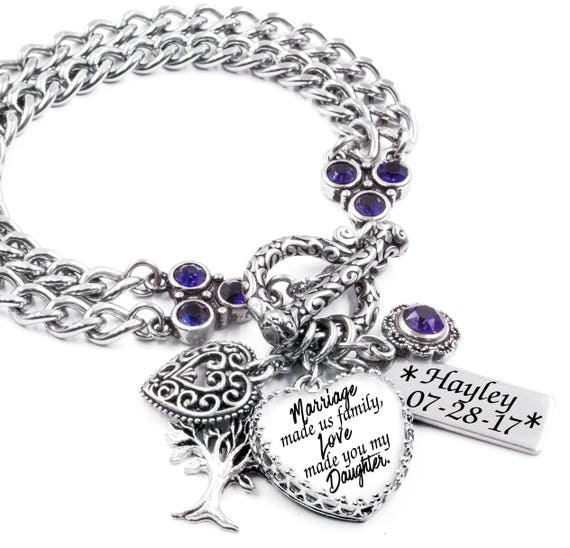 New Stepdaughter Bracelet Personalized Stepdaughter Gift