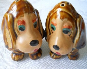 Sad Sam Salt and Pepper Shakers - Vintage, Collectible