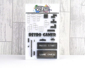 Retro Gamer A6 stamp set