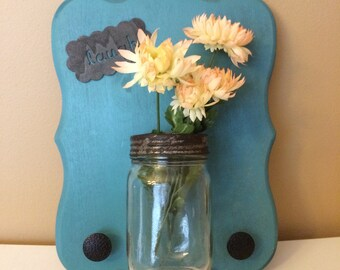 Mason Jar Keyring / Jewelry Wall Decor