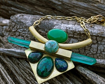 GREEN GODDESS NECKLACE - 2018 - one of a kind